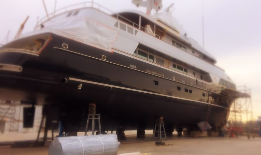 yacht exhaust refit